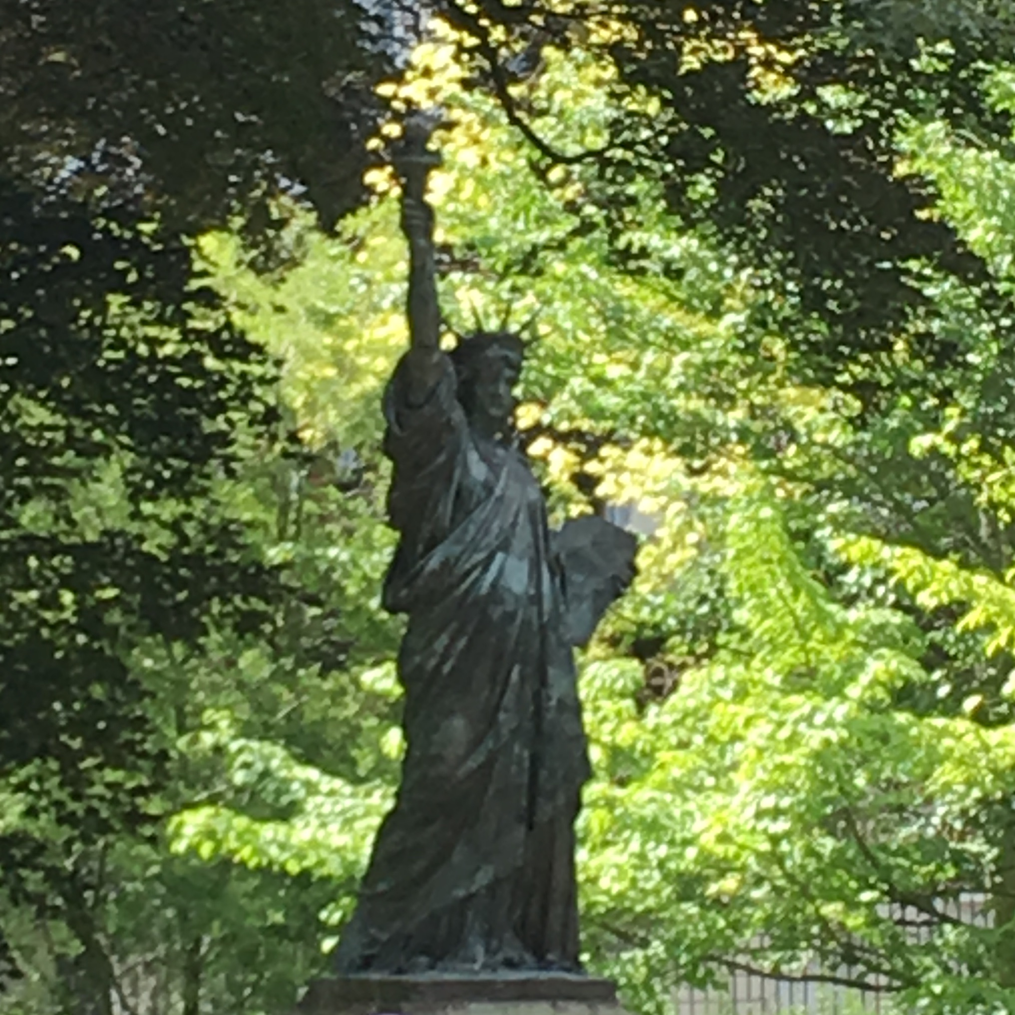 photo of a small Statue of Liberty