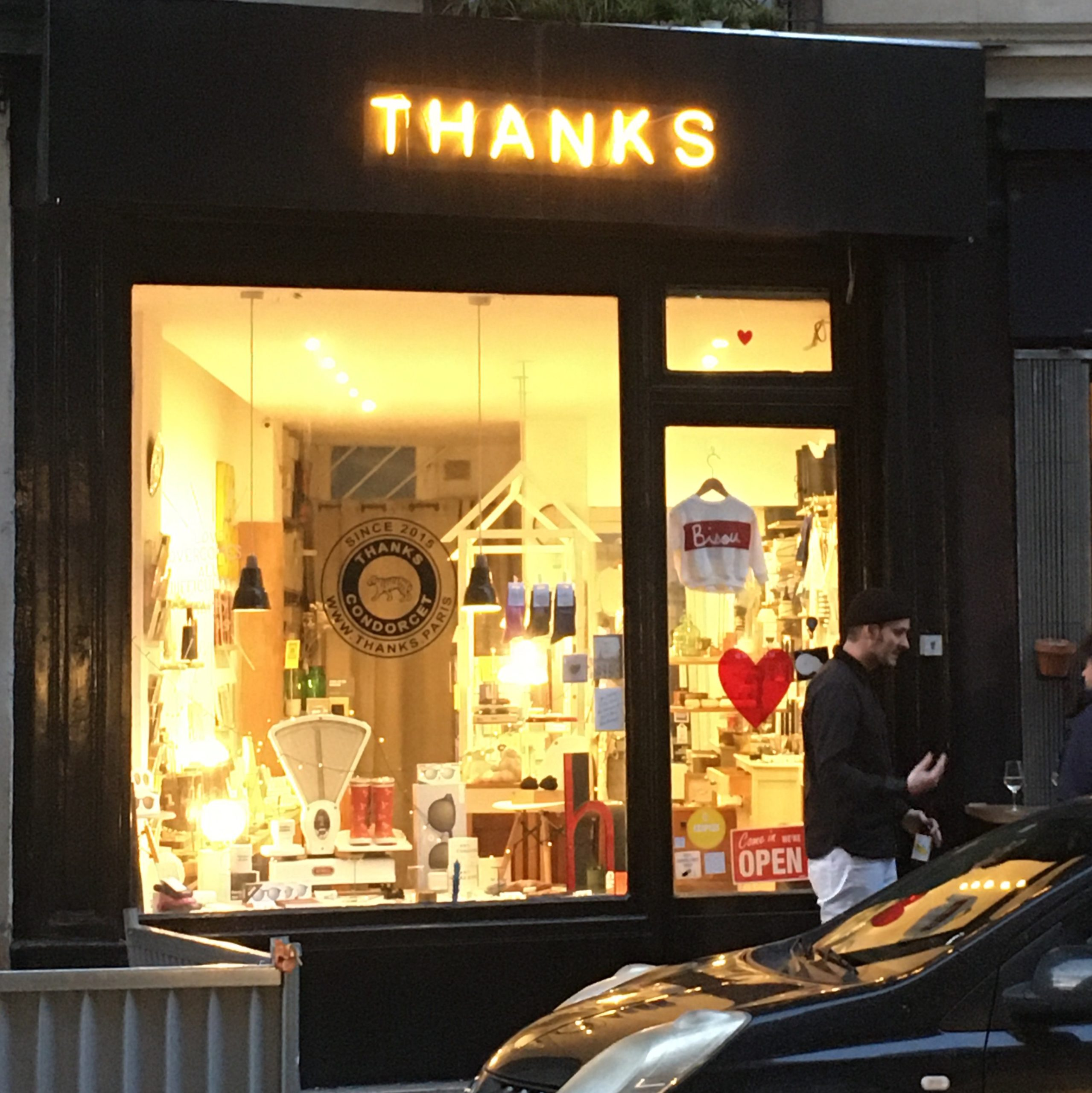 A shopfront with the word